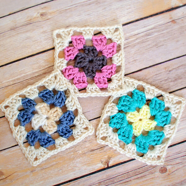 Crochet Granny Square Pattern Petals To Picots