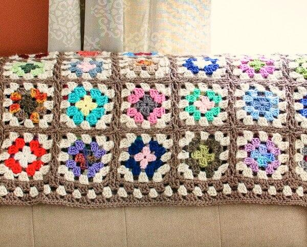 Free Crochet Granny Square Blanket Pattern