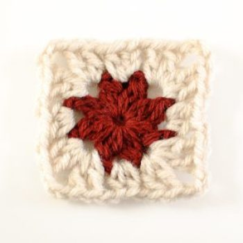 Cluster Burst Granny Square Crochet Pattern