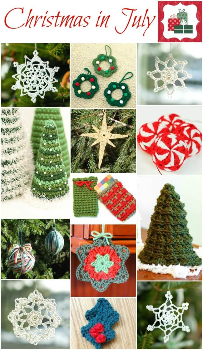 Christmas in July ... And Free Christmas Crochet Patterns | Petals ...