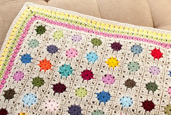 cluster burst afghan crochet border pattern (5 of 6)