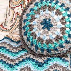 Round Granny Crochet Pillow Pattern