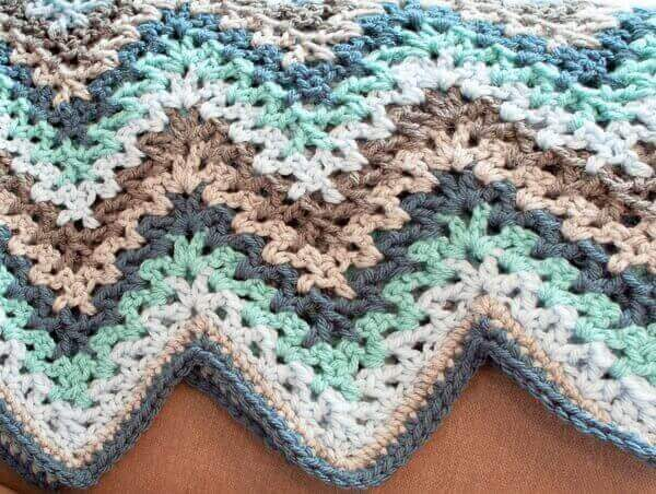 V Stitch Crochet Ripple Afghan Pattern Petals To Picots