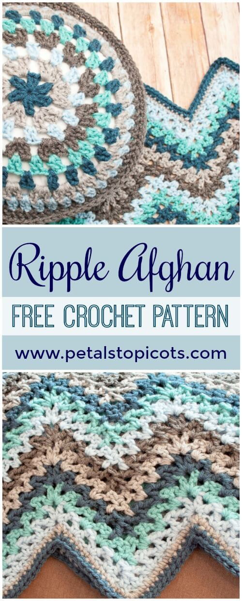 Crochet Ripple Afghan Pattern Petals To Picots
