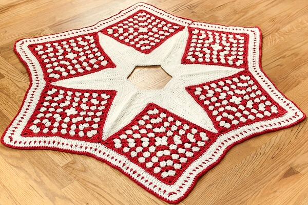 crochet christmas tree skirt pattern part 1 the grannies