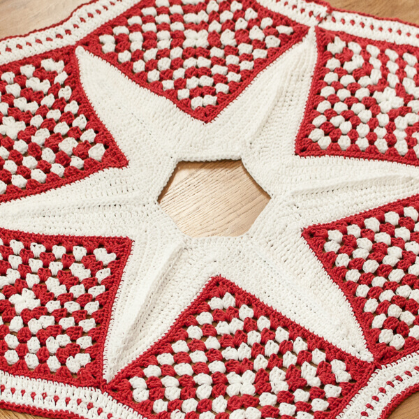 Crochet Christmas Tree Skirt Pattern Part 2 The Star Petals To