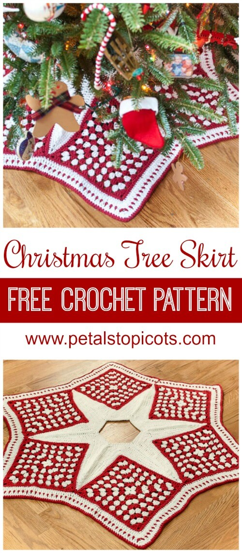 Crochet Christmas Tree Skirt Pattern Part 1 The Grannies Petals
