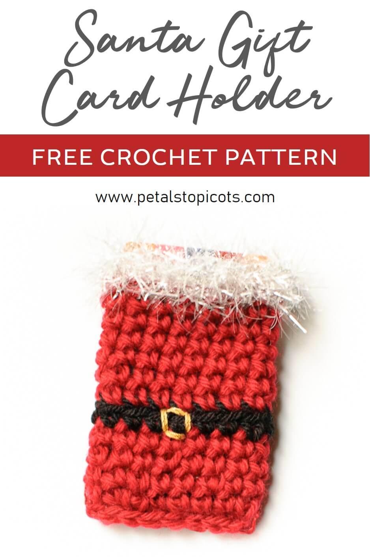 Santa Crochet Gift Card Holder Pattern