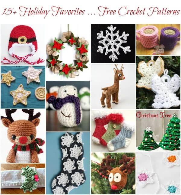 15+ Holiday Favorites ... Free Christmas Crochet Patterns #crochet #Christmas #winter #holiday