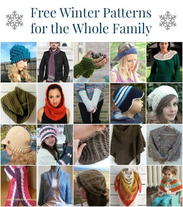 Free Winter Crochet Patterns | www.petalstopicots.com | #crochet #patterns #winter #accessories