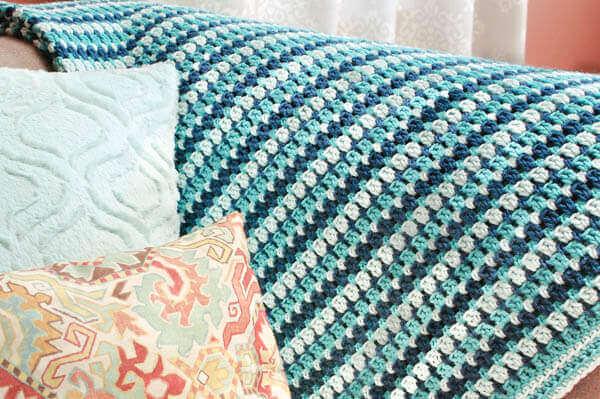 Sea Glass Crochet Afghan Pattern   www.petalstopicots.com   #crochet #afghan #blanket #pattern