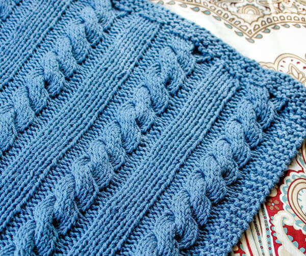 Cables And Columns Free Knit Blanket Pattern Petals To Picots