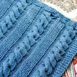 Cables and Columns Free Knit Blanket Pattern
