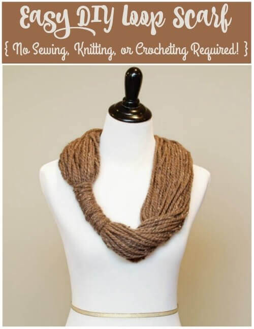 Easy Yarn Loop Scarf Petals To Picots