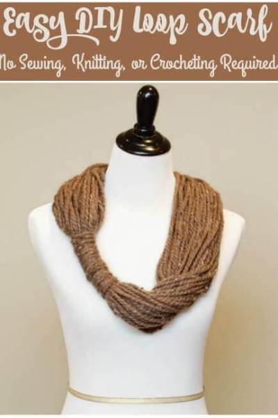 Easy Yarn Loop Scarf