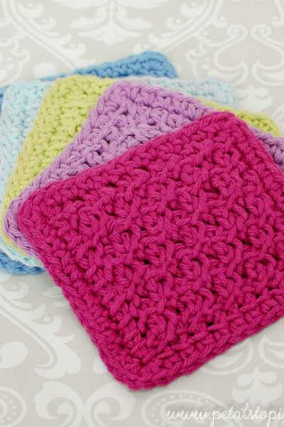 Tunisian Crochet Coaster Pattern