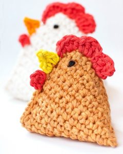 Little Chick Bean Bag by Petals to Picots