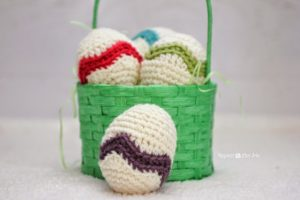 Chevron Striped Easter Egg by Repeat Crafter Me