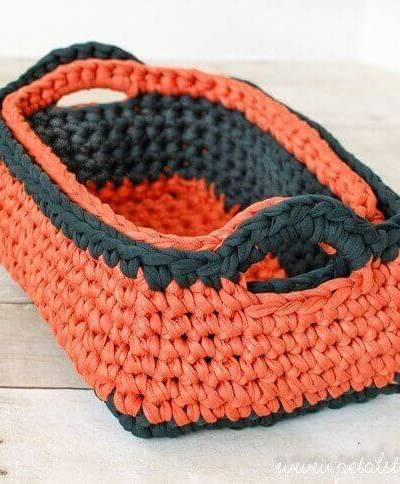 Rectangular Crochet Basket Pattern … Two Nesting Sizes!