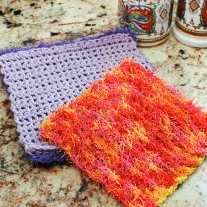 Free Scrubby Crochet Dishcloth Patterns Petals To Picots