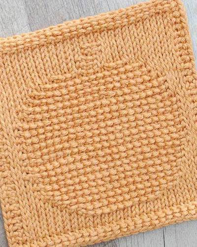 Pumpkin Tunisian Crochet Dishcloth Pattern
