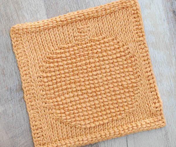 Pumpkin Tunisian Crochet Dishcloth Pattern Petals To Picots