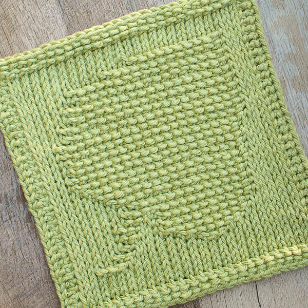 Leaf Tunisian Crochet Dishcloth Pattern   www.petalstopicots.com