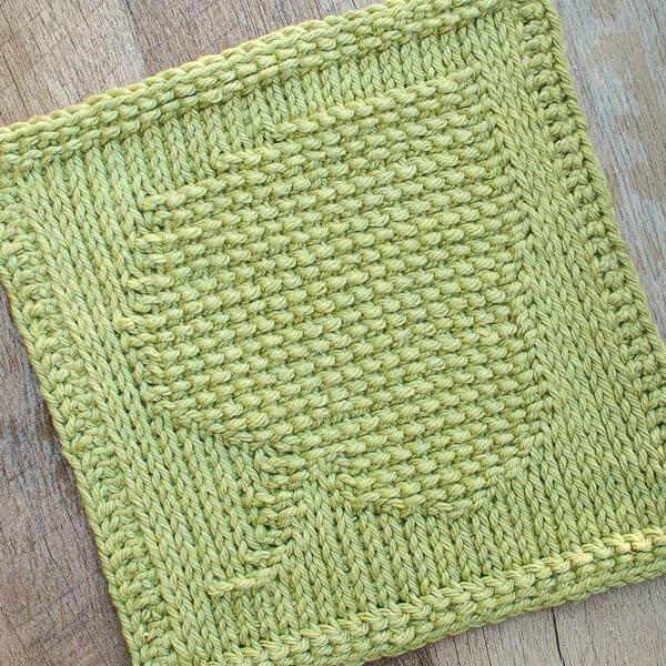 Leaf Tunisian Crochet Dishcloth Pattern Petals To Picots