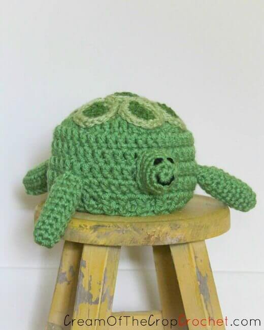 Preemie/Newborn Turtle Crochet Hat Pattern - Pattern from Cream Of The Crop Crochet