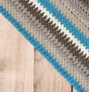 Cozy Striped Shawl Crochet Pattern | www.petalstopicots.com | #crochet #fiber
