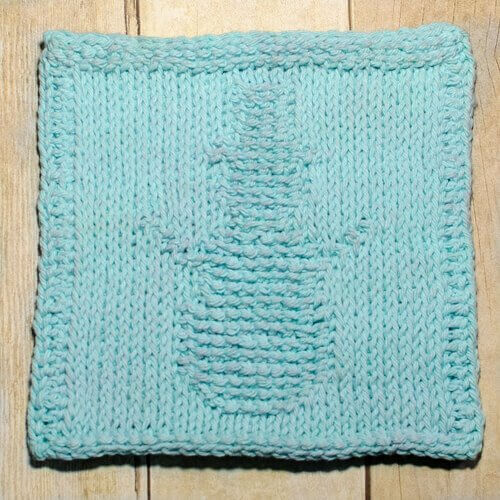 Snowman Tunisian Crochet Dishcloth Pattern