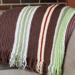 Vertical Striped Crochet Afghan Pattern