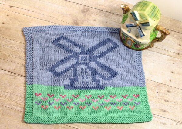 Windmill Graph Pattern to Knit or Crochet   www.petalstopicots.com   #crochet #knit