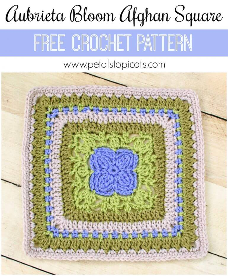 A beautiful afghan square for your garden inspired afghan ... the Aubrieta Bloom Afghan Square crochet pattern ... click over for the free pattern ...