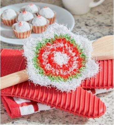 New Christmas Crochet Scrubby Patterns on Red Heart   Holiday Star Scrubby