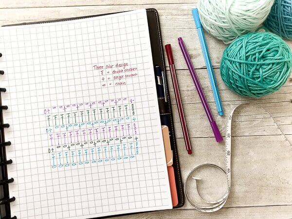 printable crochet project planner petals to picots