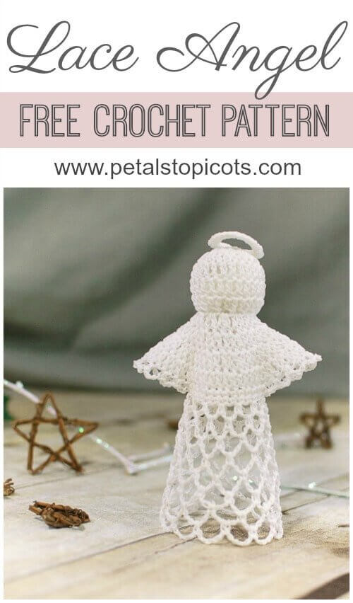 Lace angel crochet pattern petals to picots this sweet lace angel crochet pattern is perfect to work up for the holidays or any dt1010fo