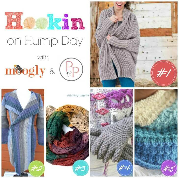 Hookin' on Hump Day crochet and knit featured projects! #petalstopicots