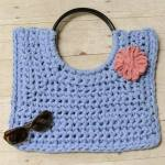Hamptons Tote … T-Shirt Yarn Crochet Bag Pattern