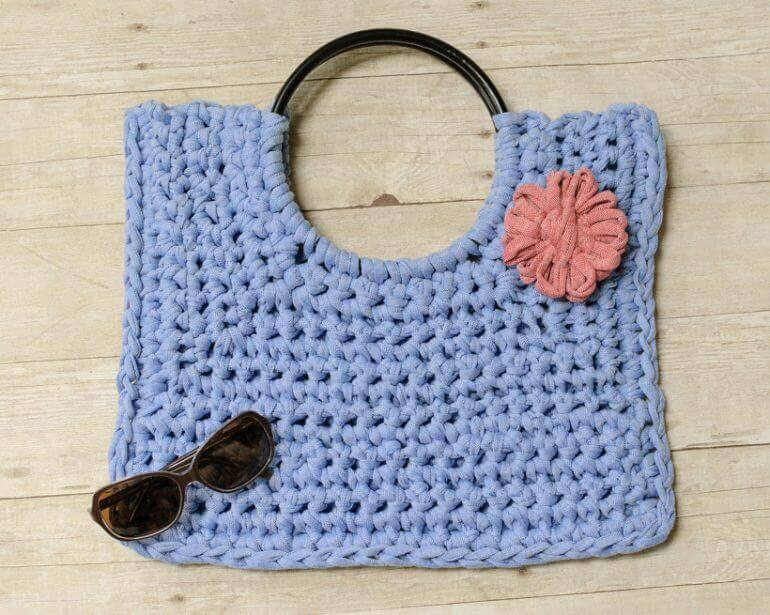 Hamptons tote t shirt yarn crochet bag pattern petals to picots t shirt yarn crochet bag pattern petalstopicots dt1010fo
