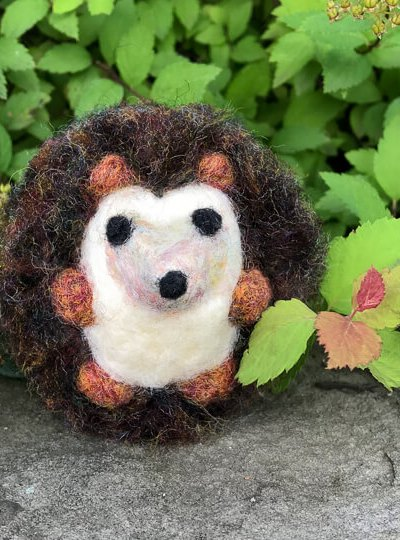 Needle Felted Hedgehog Tutorial