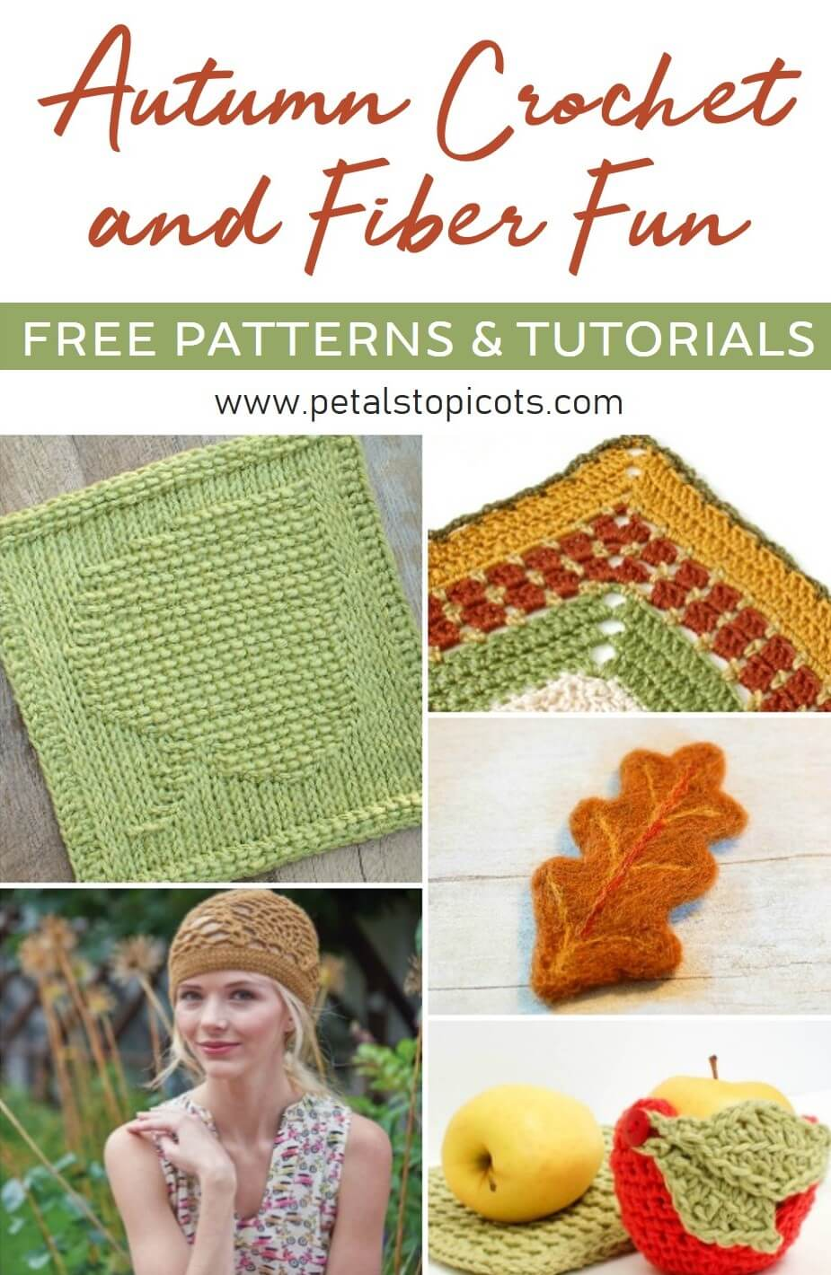 Are you ready for some Autumn Crochet and Fiber Fun?! I've rounded up some of my free Fall faves to share with you! #petalstopicots