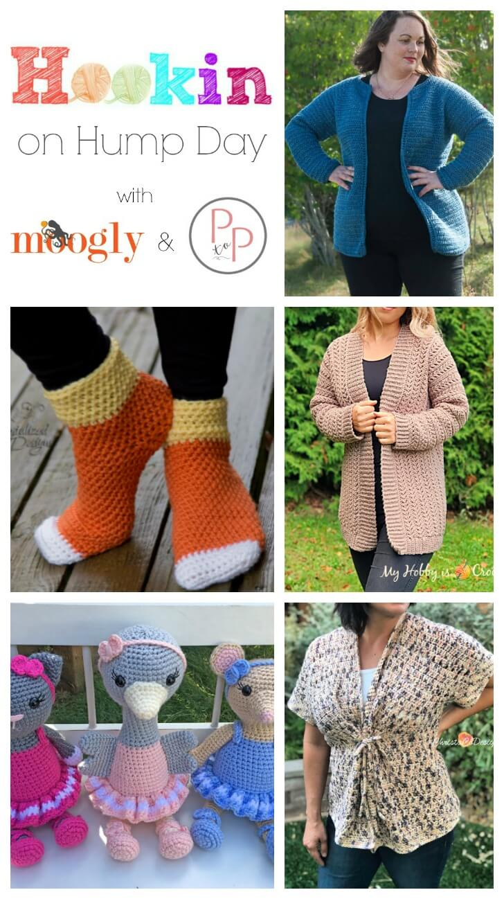 See whats trending in the fiber world! Check out Hookin' on Hump Day for lots of great crochet and knit patterns. #petalstopicots
