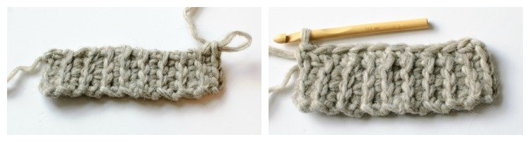 Crochet ribbing for cuff