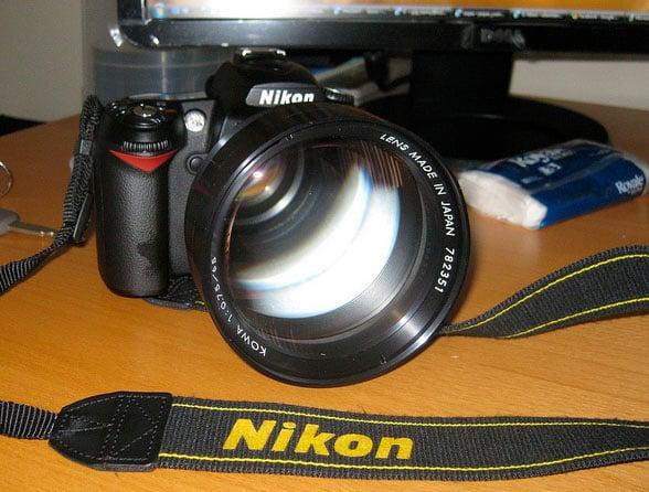 Kowa 65mm f/0.75 X-Ray Lens Mounted on a Nikon D90
