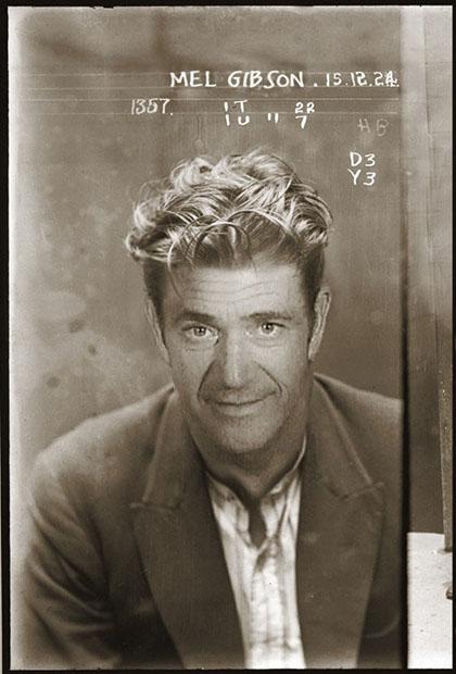 Celebrity Booking Photos Photoshopped Into Vintage 1920s Mugshots