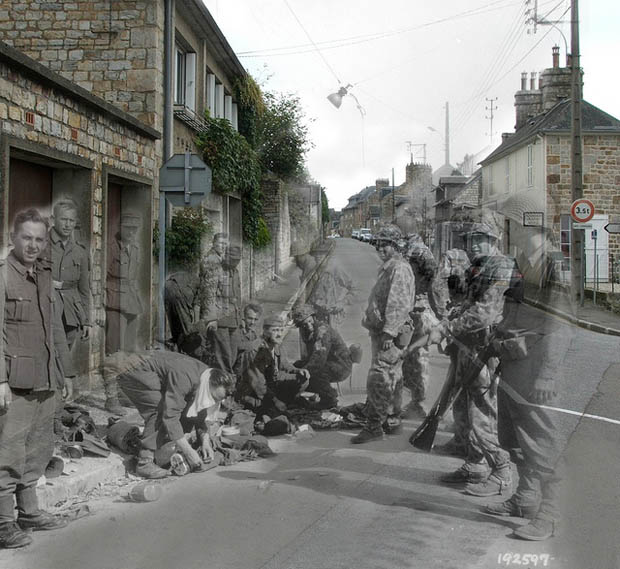 Ghosts of WWII: Photos of Soldiers Seen in the Streets of Modern Day France 8088821571 9562275318 z