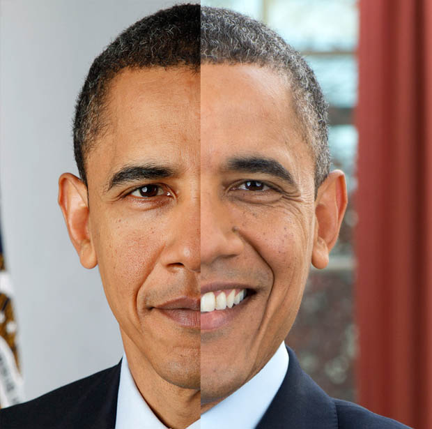A Closer Look at Obamas New Official Presidential Portrait obamaaged