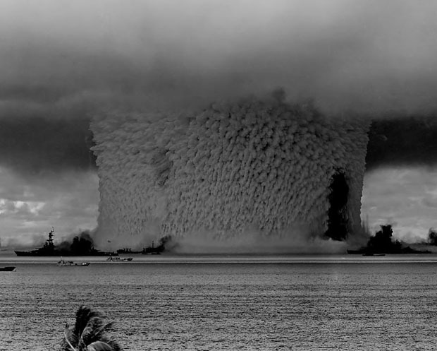 Photos from the Worlds First Underwater Nuclear Explosion bakercrop