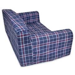 Navy Blue Pet Sofa Cover Connections Ltd Tartan  New Beds Direct